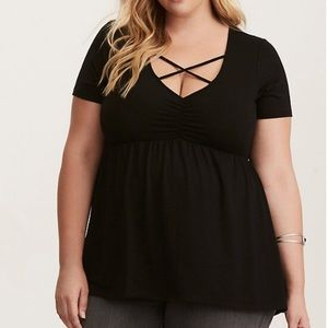 Torrid | Strappy Cinched Babydoll Tee